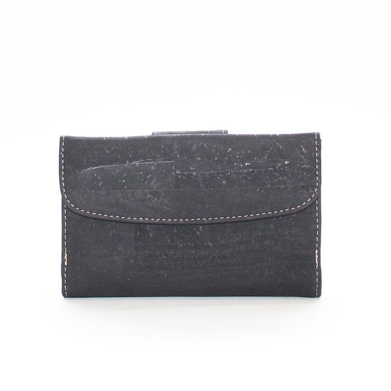 Rok Cork Grace Wallet in Black-Womens Wallet-Rok Cork-Unicorn Goods