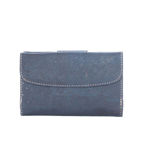 Rok Cork Grace Wallet in Blue-Womens Wallet-Rok Cork-Unicorn Goods