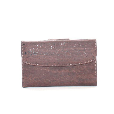 Rok Cork Grace Wallet in Brown-Womens Wallet-Rok Cork-Unicorn Goods