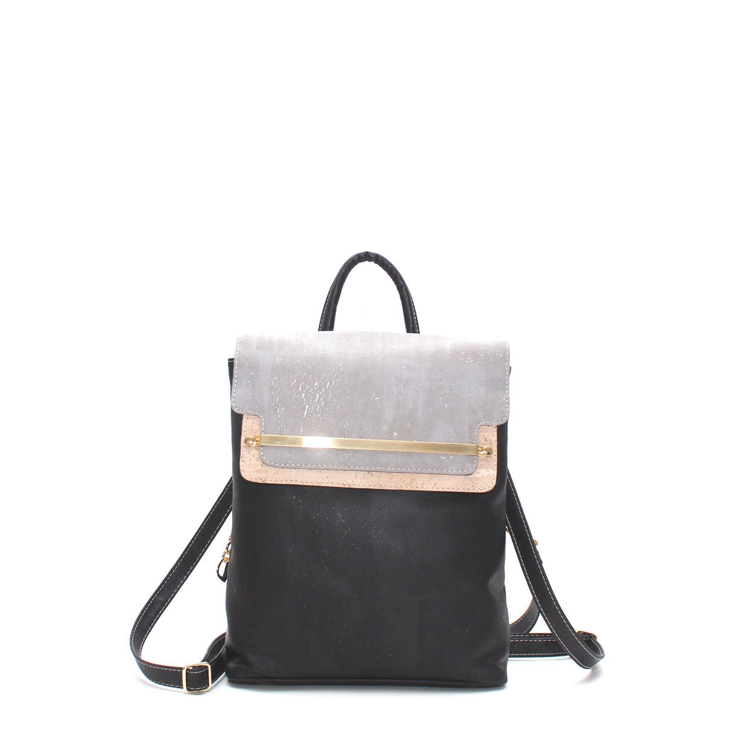 c4f28983362 ... Bags – Unicorn Goods  best loved 4d2b9 394a5 Rok Cork Jessica Luxe  Backpack in Tri Colour Black and Grey- ...