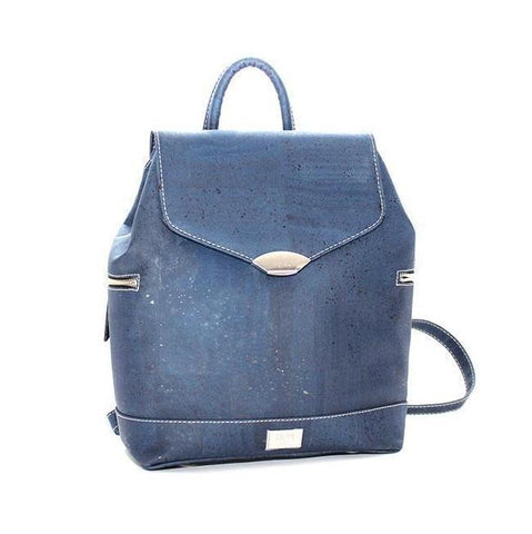Rok Cork Jillian Backpack in Navy Blue-Womens Backpack-Rok Cork-Unicorn Goods