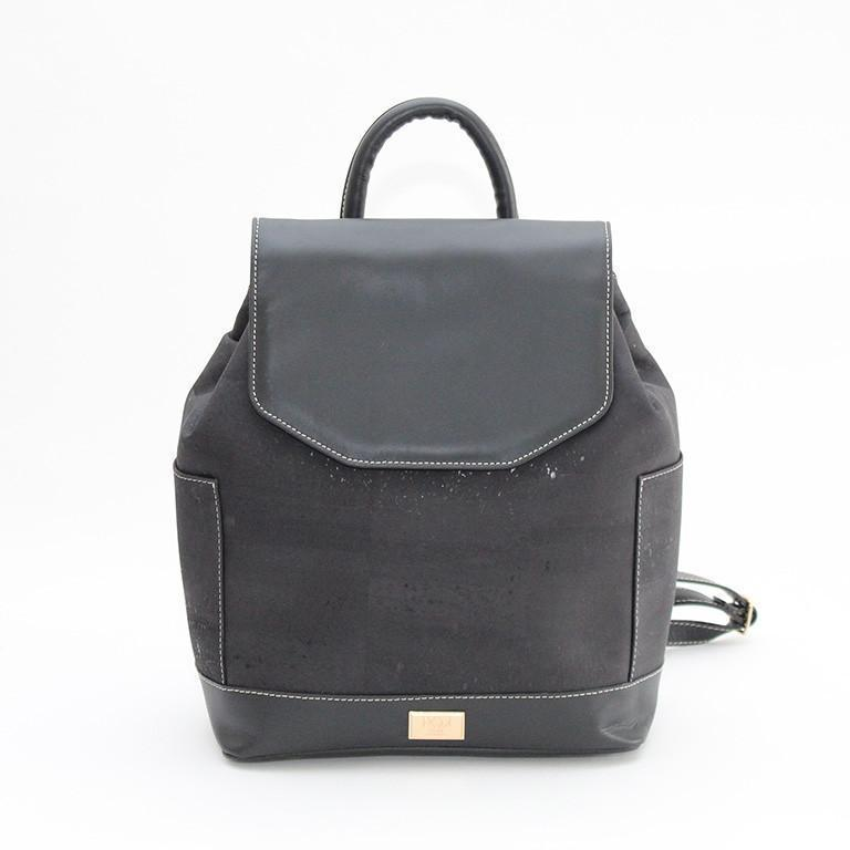 Rok Cork Jillian Luxe Backpack in Black-Womens Backpack-Rok Cork-Unicorn Goods
