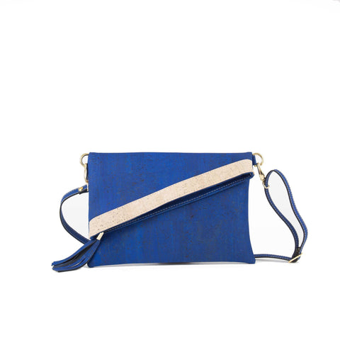 Rok Cork Mimi Clutch in Sapphire Blue-Womens Clutch-Rok Cork-Unicorn Goods