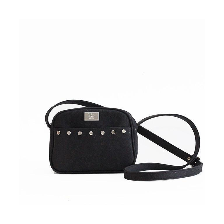 Rok Cork Steffy Crossbody Bag in Black-Womens Crossbody-Rok Cork-Unicorn Goods
