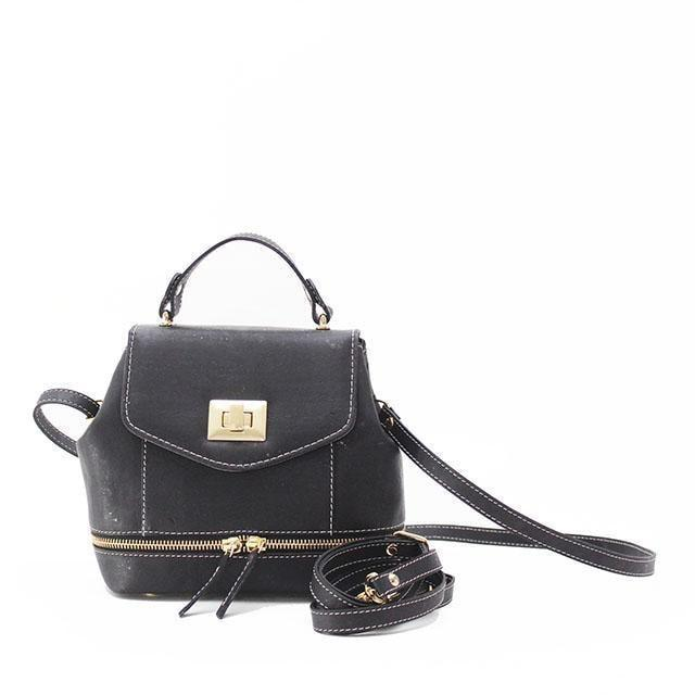 Rok Cork Suzy Q Backpack in Black-Womens Backpack-Rok Cork-Unicorn Goods