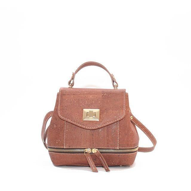 Rok Cork Suzy Q Backpack in Camel-Womens Backpack-Rok Cork-Unicorn Goods