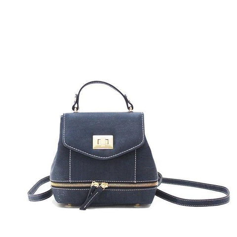 Rok Cork Suzy Q Backpack in Navy Blue-Womens Backpack-Rok Cork-Unicorn Goods