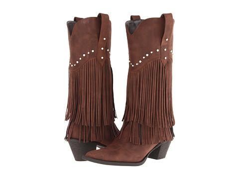 Roper Tall Boots with Studs and Fringe-Womens Boots-Roper-Unicorn Goods