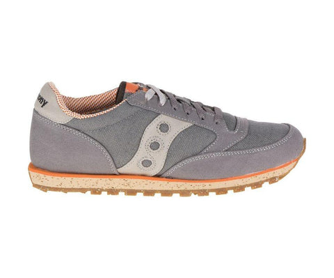Saucony Men's Jazz Low Pro Sneakers in Charcoal and Orange-Mens Athletic Shoes-Saucony-Unicorn Goods