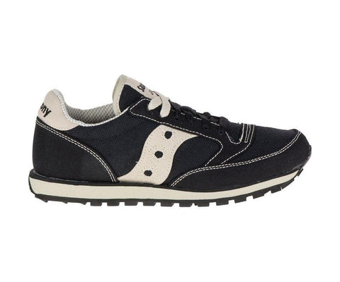 Saucony Women's Jazz Low Pro Sneakers in Black and Oatmeal-Womens Athletic Shoes-Saucony-Unicorn Goods