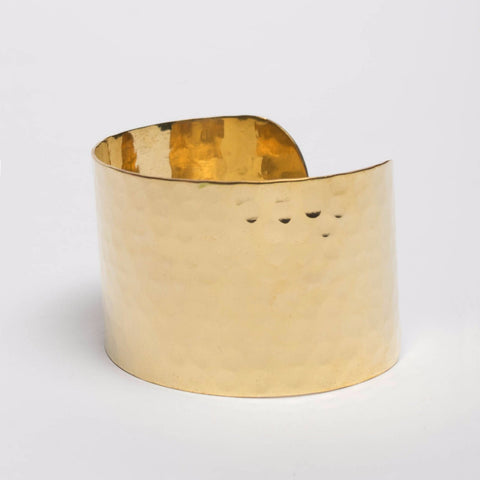 Sévya Gold Cuff Bracelet-Womens Bracelet-Bead and Reel-Unicorn Goods