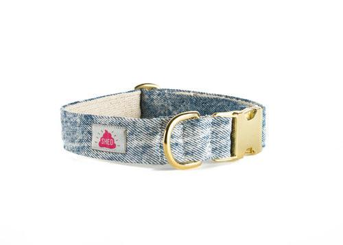 Shed Mom Jeans Collar in Acid Wash-Pet-Shed-Unicorn Goods