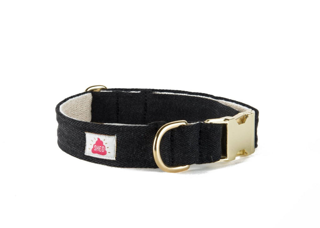Shed Mom Jeans Collar in Black Denim-Pet-Shed-Unicorn Goods