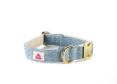 Shed Mom Jeans Collar in Light Wash-Pet-Shed-Unicorn Goods
