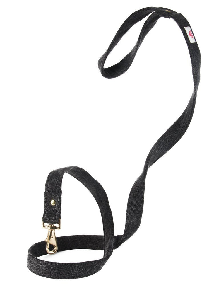Shed Mom Jeans Leash in Black Denim-Pet-Shed-Unicorn Goods