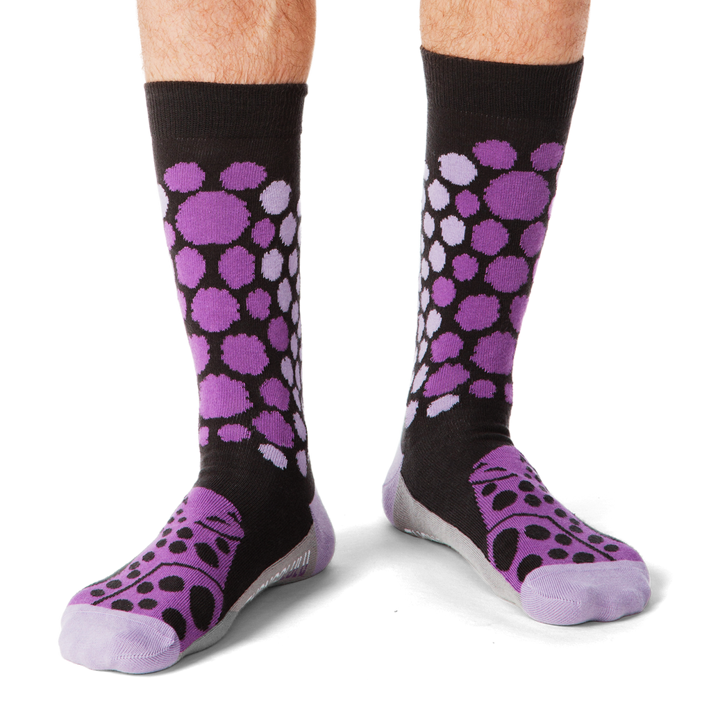 Shongolulu Cheetah Pattern Purple Men's Socks-Mens Socks-Shongolulu-Unicorn Goods