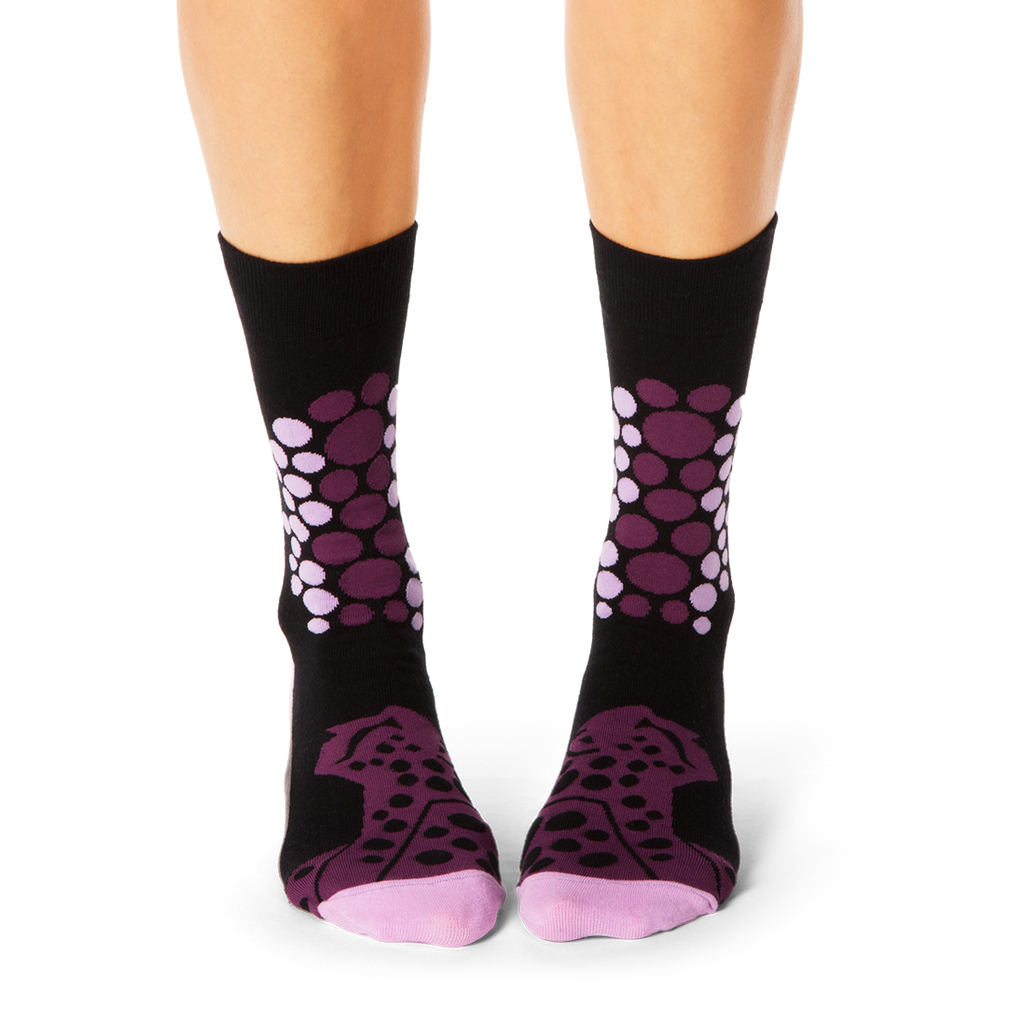 Shongolulu Cheetah Pattern Purple Women's Socks-Womens Socks-Shongolulu-Unicorn Goods