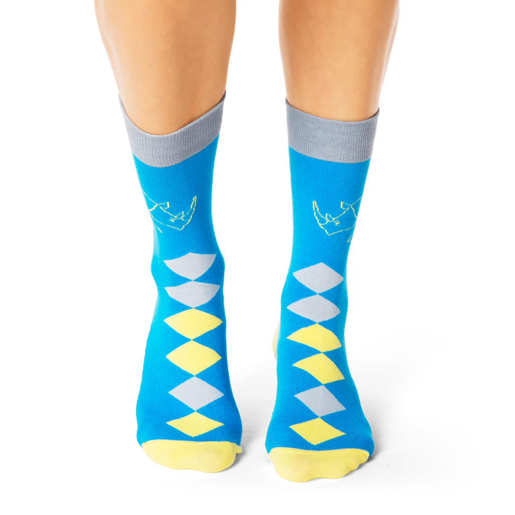 Shongolulu Rhino Diamonds Socks-Unisex Socks-Shongolulu-Unicorn Goods