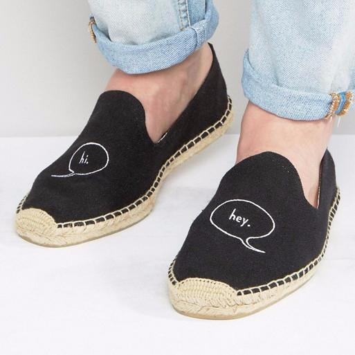 Soludos Hi Embroidered Espadrilles-Mens Loafers-ASOS-Unicorn Goods