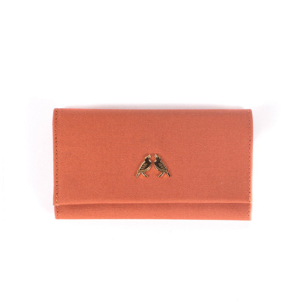 Starling & Ivy Peach Plaid Trifold Wallet-Womens Wallet-Starling & Ivy-Unicorn Goods