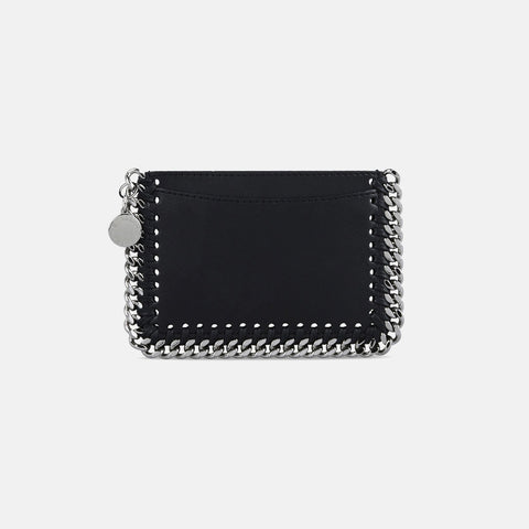 Stella McCartney Black Alter Nappa Card Holder-Womens Wallet-Stella McCartney-Unicorn Goods
