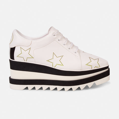 Stella McCartney Black and White Stars Sneak-Elyse-Womens Sneakers-Stella McCartney-Unicorn Goods