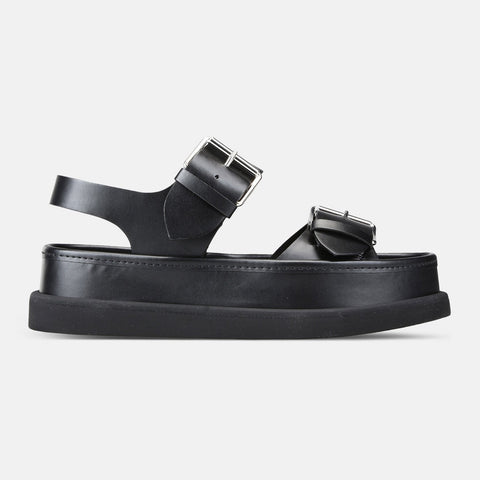 Stella McCartney Black Buckle Sandals-Womens Sandals-Stella McCartney-Unicorn Goods