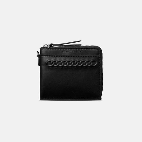 Stella McCartney Black Eco Alter Nappa Falabella Card Case-Womens Wallet-Stella McCartney-Unicorn Goods