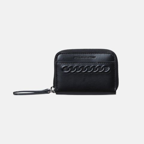 Stella McCartney Black Eco Alter Nappa Falabella Coin Purse-Womens Wallet-Stella McCartney-Unicorn Goods