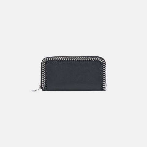 Stella McCartney Black Falabella Box Continental Wallet-Womens Wallet-Stella McCartney-Unicorn Goods