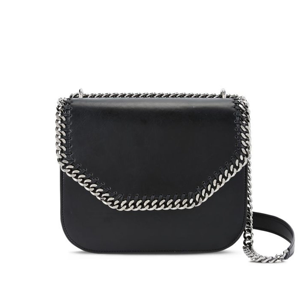 Stella McCartney Black Falabella Box Shoulder Bag-Womens Purse-Stella McCartney-Unicorn Goods