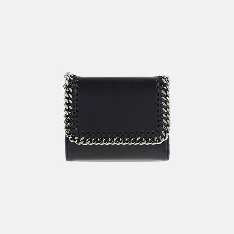 Stella McCartney Black Falabella Box Small Flap Wallet-Womens Wallet-Stella McCartney-Unicorn Goods