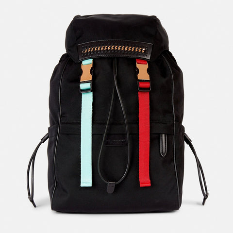 Stella McCartney Black Falabella Go Mountain Backpack-Womens Backpack-Stella McCartney-Unicorn Goods