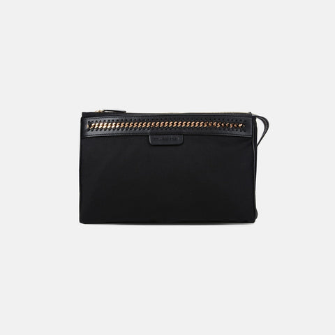 Stella McCartney Black Falabella GO Toiletry Bag-Makeup - Tools-Stella McCartney-Unicorn Goods