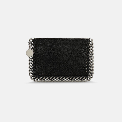 Stella McCartney Black Falabella Shaggy Deer Card Holder-Womens Wallet-Stella McCartney-Unicorn Goods