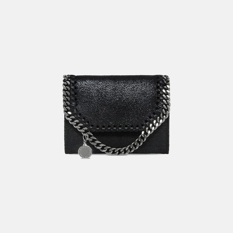 Stella McCartney Black Falabella Shaggy Deer Smal Wallet-Womens Wallet-Stella McCartney-Unicorn Goods