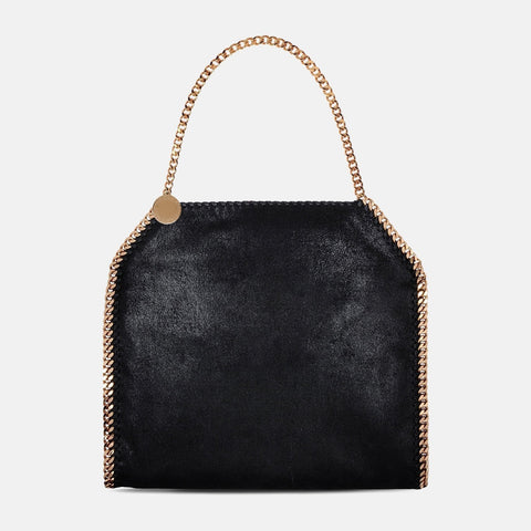 Stella McCartney Black Falabella Shaggy Deer Small Tote-Womens Purse-Stella McCartney-Unicorn Goods