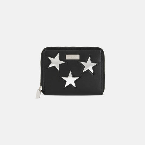 Stella McCartney Black Metallic Stars Small Wallet-Womens Wallet-Stella McCartney-Unicorn Goods