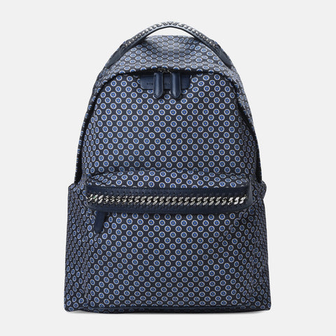 Stella McCartney Blue Tie Print Falabella GO Backpack-Womens Backpack-Stella McCartney-Unicorn Goods