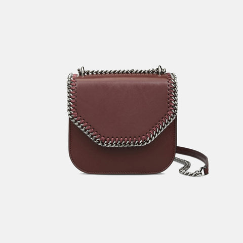 bebe02ad0c Stella McCartney Borgeaux Falabella Box Mini Shoulder Bag