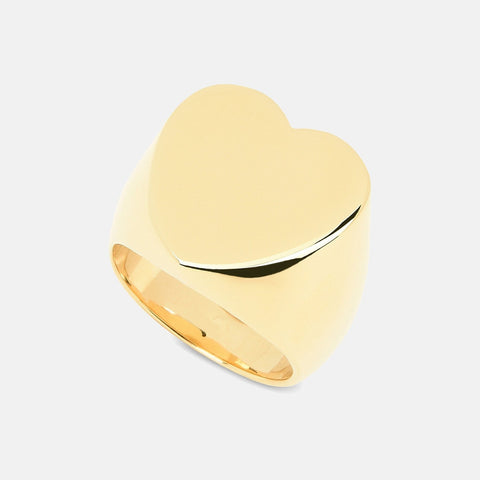 Stella McCartney Brass Heart Ring-Womens Ring-Stella McCartney-Unicorn Goods