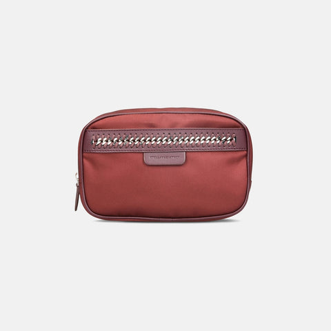 Stella McCartney Burgundy Big Falabella GO Cosmetic Case-Makeup - Tools-Stella McCartney-Unicorn Goods