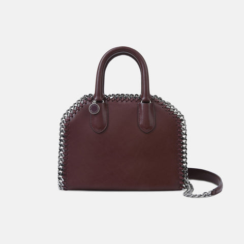 5825f1c641 Stella McCartney Burgundy Falabella Box Mini Top Handle Bag