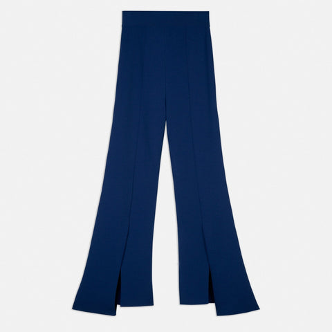 Stella McCartney Compact Knit Pants in Bright Blue-Womens Pants-Stella McCartney-Unicorn Goods
