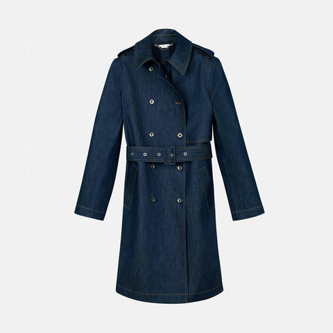 Stella McCartney Denim Trench Coat-Womens Coat-Stella McCartney-Unicorn Goods