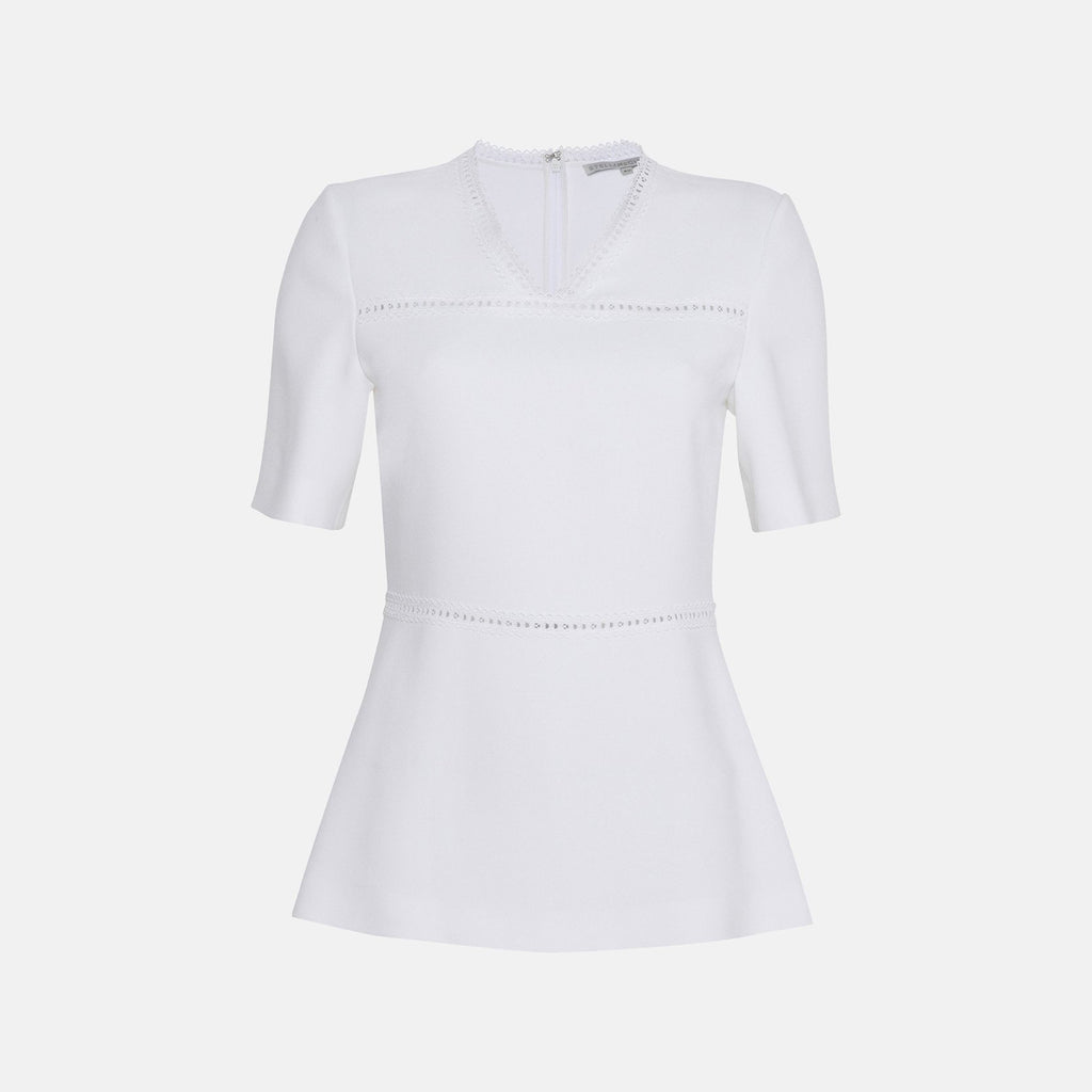 Stella McCartney Edna White Top-Womens Shirt-Stella McCartney-Unicorn Goods