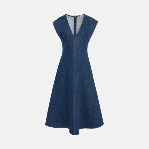 Stella McCartney Ella Organic Denim Dress-Womens Short Dress-Stella McCartney-Unicorn Goods