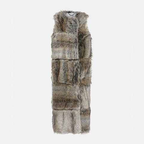 Stella McCartney Fur Free Fur Adalia Waistcoat-Womens Coat-Stella McCartney-Unicorn Goods