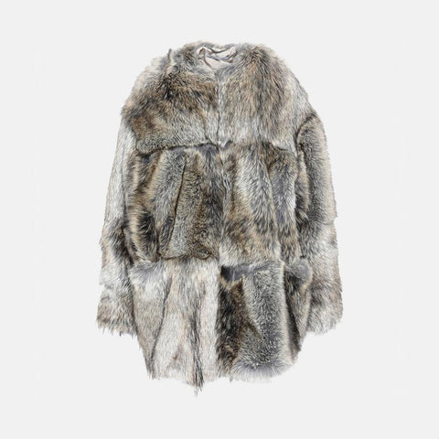 Stella McCartney Fur Free Fur Elina Coat-Womens Coat-Stella McCartney-Unicorn Goods