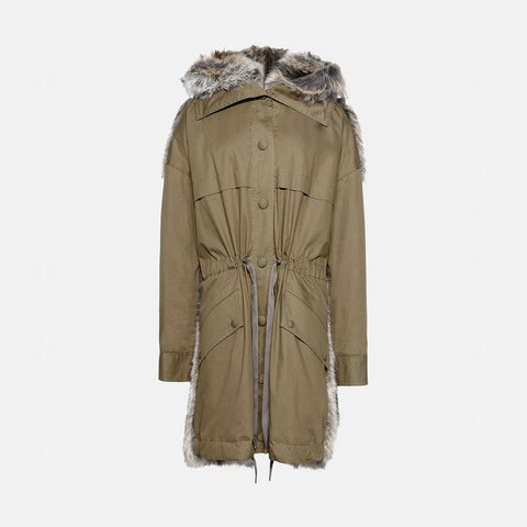 Stella McCartney Fur Free Fur Gail Parka-Womens Coat-Stella McCartney-Unicorn Goods